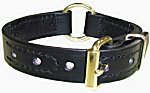1 Center Ring Police K-9 Leather Collar w/Decorative Stitching