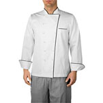 Chefwear 4100-BP, Black Piped Executive Chef Jacket (Premier)