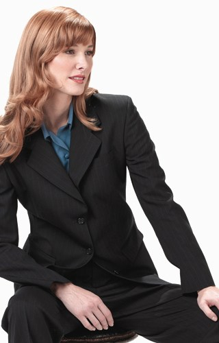 Edwards Garment | 6660 | Women's Poly/Wool Pinstripe Suit Coat
