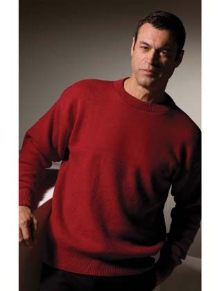 Men s 100% Cotton Seed Stitch Crew Neck Sweater 00a651014