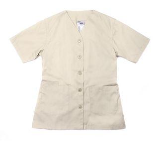 Eagle Work Clothes STVBTDC Short Sleeve V Neck But Belt Tunic