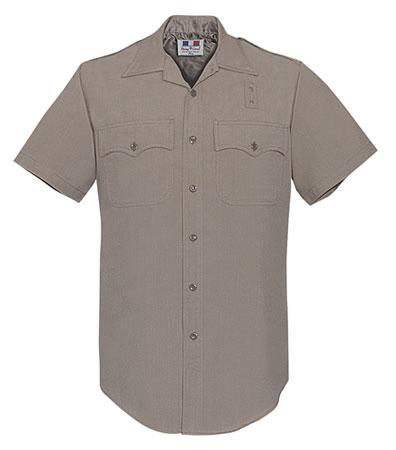 CHP Short Sleeve Shirt - Men's Polyester/Wool Silver Tan