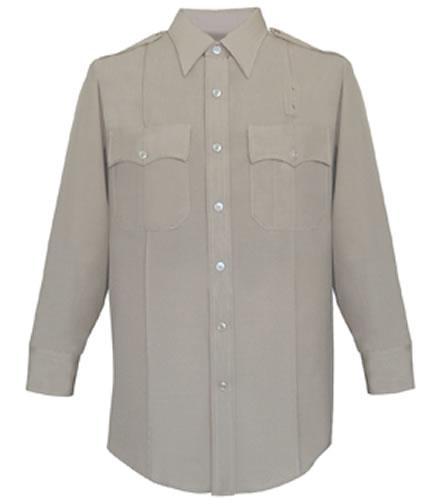 3e1a7271dfd380 Women's 65/35 Polyester/Rayon Deluxe Tropical Long Sleeve Shirt - Silver Tan