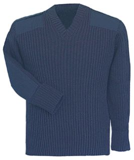 Fechheimer 00700 Navy COM.Sweater 70Poly/30Wool
