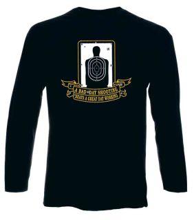 Hero's Pride 8857 A Bad Day Shooting - Long Sleeve T-shirt