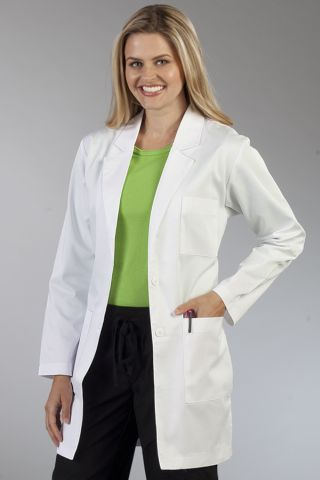Med Couture 6454 34 In. Mid Length Lab Coat