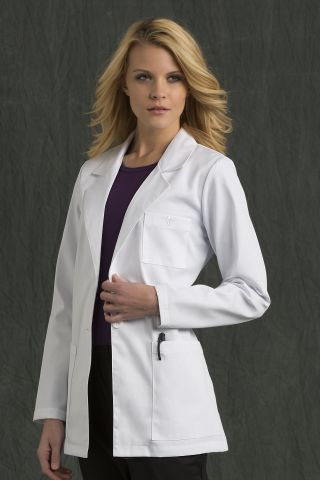 Med Couture 8660 3 Pocket  Length Lab Coat