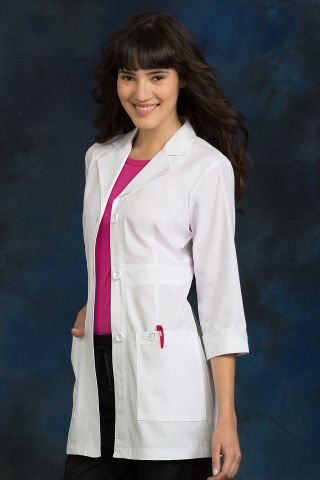 Med Couture 9604 31 In. Mid Length Lab Coat