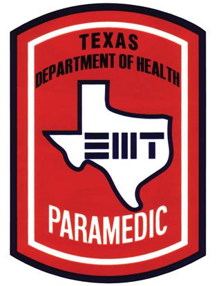 Premier Emblem D1750 Decal Paramedic Texas