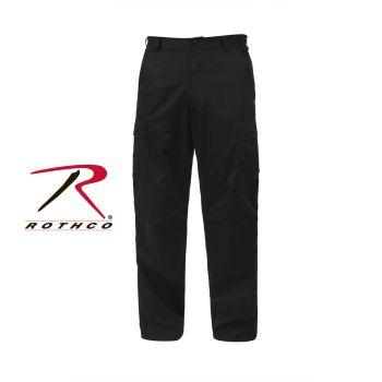 Rothco 7972 Rothco Black B.D.U. Pants Poly/Cotton Twill - Long