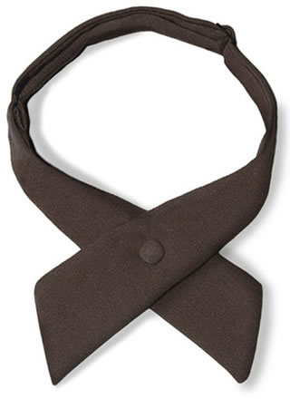 Samuel Broome 90156 Polyester Women's Crossover Tie with Covered Snap