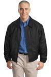Port Authority® - Leather Bomber Jacket. J780