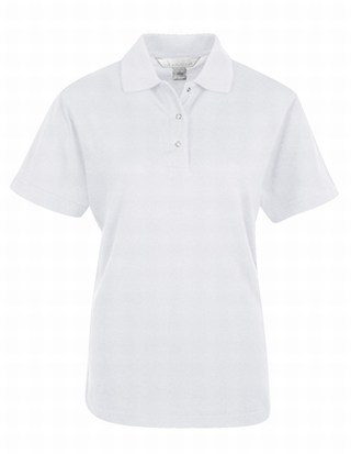 Tri-Mountain 302 Assistant-Women's 60/40 Easy Care Knit Shirt With Snap Closure. Ideal Cook Shirt.