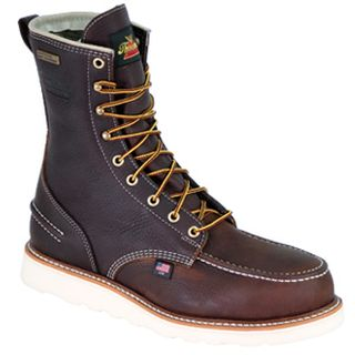 "Thorogood Shoes 804-3800 8"" Moc Toe, Waterproof Safety Toe"