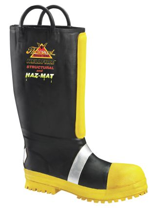 Weinbrenner 807-6004 807-6004  Neoprene Rubber Structural and Haz-Mat Fire Boot with Lug Sole