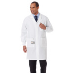 "White Swan 11653 Meta 40"" Unisex Fluid Resistant Anti-Static Labcoat"