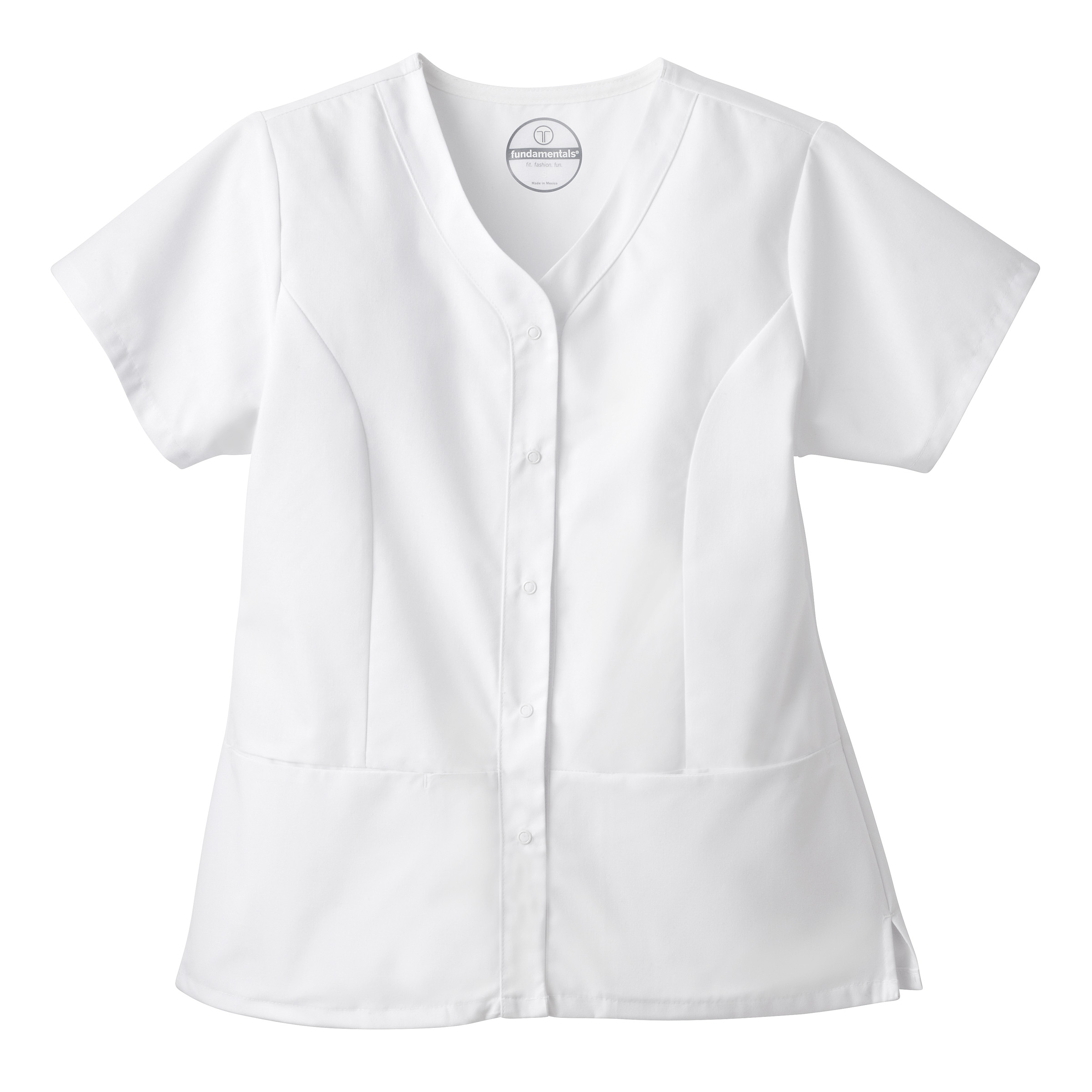White Swan 14560 Fundamentals Ladies Snap Front Top