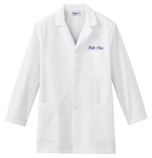 "White Swan 15007 Meta Fundamentals 34"" Mens Labcoat"