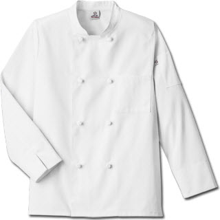 White Swan 18016 Five Star Unisex Knot Button Chef Coat