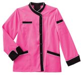 White Swan 18038 Five Star Ladies Long Sleeve Executive Coat with Moisture Wicking Mesh Back