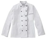 White Swan 18120 Five Star Executive Chef Jacket with Black Trim