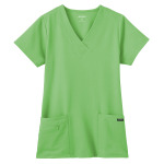 White Swan 2206 Jockey Ladies Soft V-Neck; Zipper Pocket Top