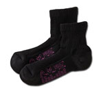 White Swan 5856 AMPS Ladies Quarter Crew Performance Sock