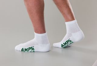 White Swan 5871 AMPS Mens Quarter Crew Performance Sock