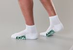 White Swan 5871 5871 AMPS Men's Quarter Crew Performance Sock
