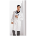 "White Swan 650 Meta Mens 38"" Cotton Long Labcoat"