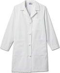 "White Swan 763 Meta Ladies 38"" Cotton Knot Button iPad Labcoat"