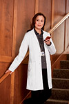 "White Swan 767 Meta Ladies 36"" Mid-Length Labcoat"