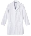 "White Swan 800 Meta Mens 38"" Knot Button Cotton Long Labcoat"