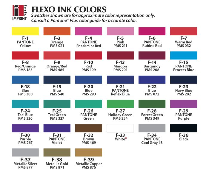 Flexo Print Color Chart