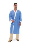 Superior Uniform Group 1851 Unisex Ciel/White Collarless Robe