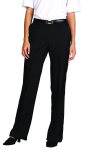 Superior Uniform Group 20502 Ladies Black Select Flat Front Slack