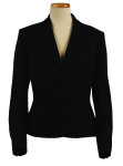 Superior Uniform Group 20610 Ladies Black Select 3-Btn Short Jacket