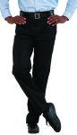 Superior Uniform Group 21101 Mens Black D/C S/Twl Trousers/QT Pocket