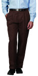 Superior Uniform Group 21600 Mens Chocolate Select Double Pltd Pant