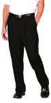 Superior Uniform Group 21605 Mens Black Select Double Pltd Pant