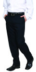 Superior Uniform Group 21623 Mens Charcoal Signature Flat Front Pant