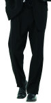 Superior Uniform Group 21706 Male Black D/W Pltd Trouser