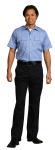 Superior Uniform Group 22158 Mens Lt Blue POP SS Public Safety Shirt