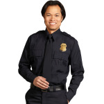 Superior Uniform Group 23553 Male Midnite Poly LS Shirt