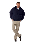 Superior Uniform Group 24032 Unisex Navy Nylon Bomber Jacket