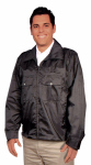 Superior Uniform Group 24033 Uni Black Windbrkr Jacket/Lnd/Side Vent/Zip