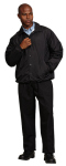Superior Uniform Group 24551 Unisex Black Nylon Jacket/Flannel Lined