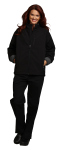 Superior Uniform Group 24746 Unisex Black Bonded Jacket