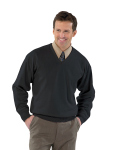 Superior Uniform Group 24941 Mens Blk Acrylic Fine LS V-Neck Sweater