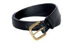 """Superior Uniform Group 26721 1"""" Black Glazed Leather Belt"""
